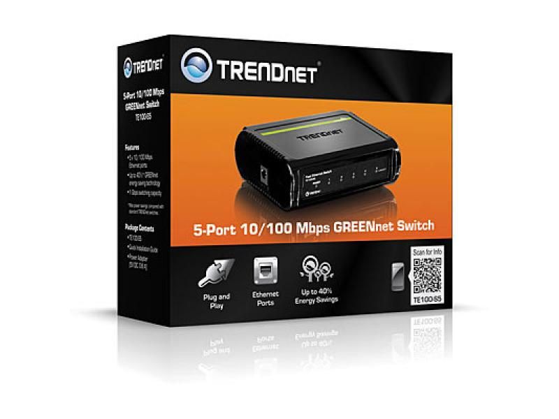 Imagen 5-Port 10/100Mbps Fast Ethernet Switch 1