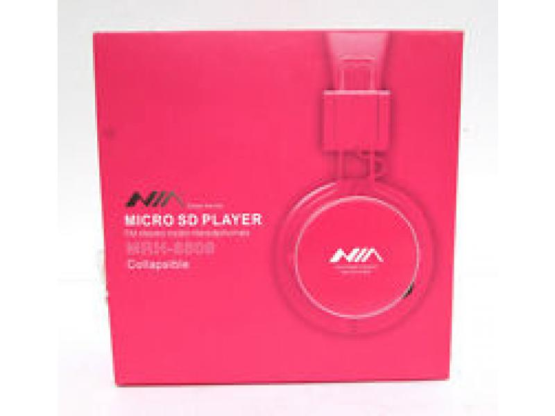 Imagen Audifonos NIA MP3 MICRO SD PLAYER ROSADO 5