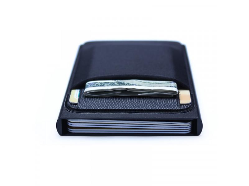 a2685180d Billetera Cartera Aluminio Proteccion RFID QB0097 Negro: PS2606 ...