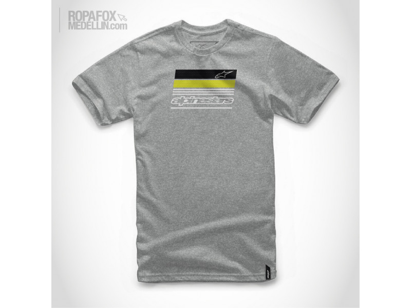 Imagen Camiseta Alpinestars News Grey/Black/Green 1