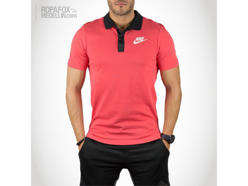 Imagen Camiseta Polo Nike Advanced Salmon/Black 1