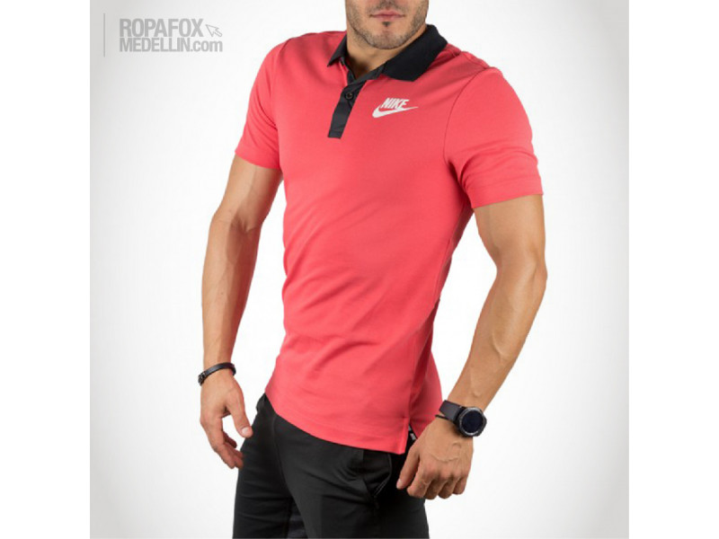 Imagen Camiseta Polo Nike Advanced Salmon/Black 3