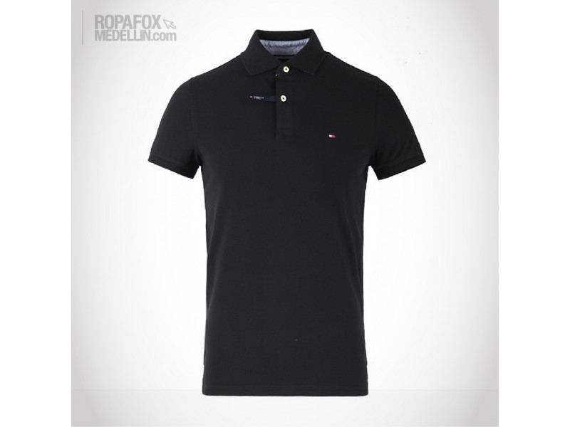 244cff20cd Camiseta Polo Tommy Hilfiger Basic Black  REF - 5706