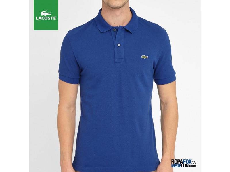 d2460cb3be74e Camiseta Tipo Polo Lacoste Azul Rey  REF 01707