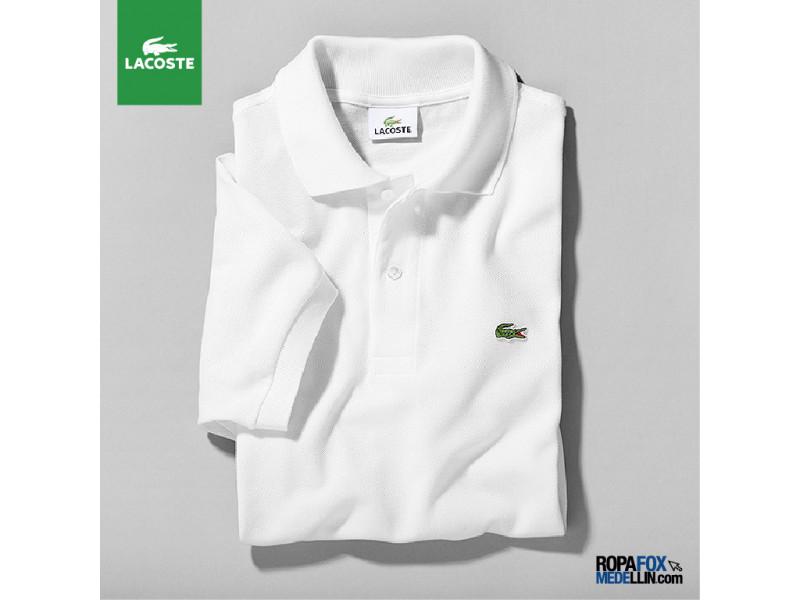 7d83c266e70e5 Camiseta Tipo Polo Lacoste Blanca  Ref 02515