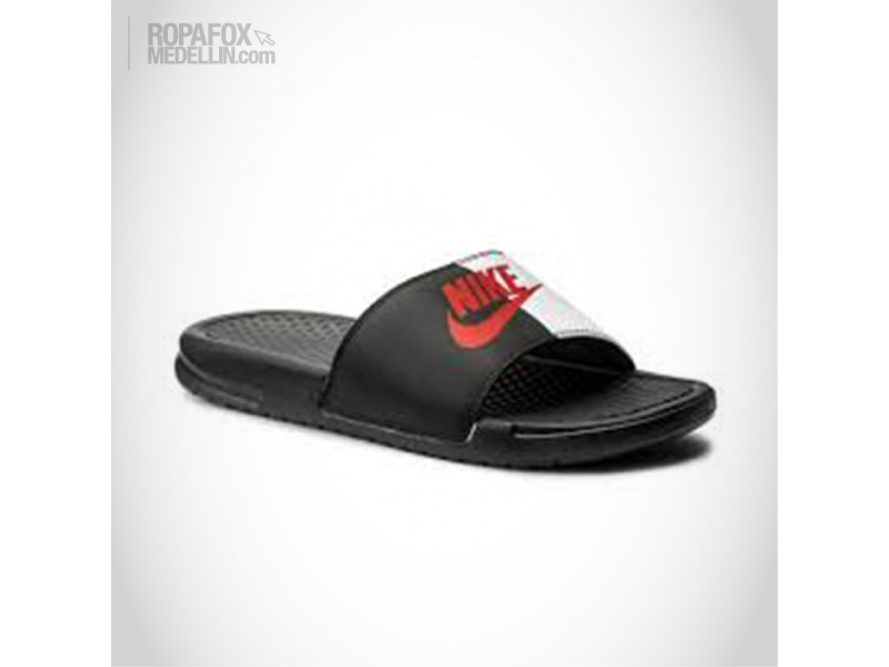 d7add353acf5a Chanclas Nike Benassi Jdi Black Red  REF - 5651