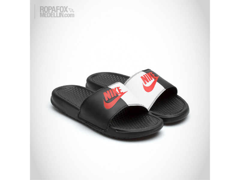 ac0639baa5405 Chanclas Nike Benassi Jdi Mix Black White Red  REF - 5649