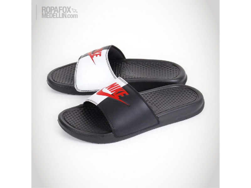Imagen Chanclas Nike Benassi Jdi Mix Black/White/Red 2