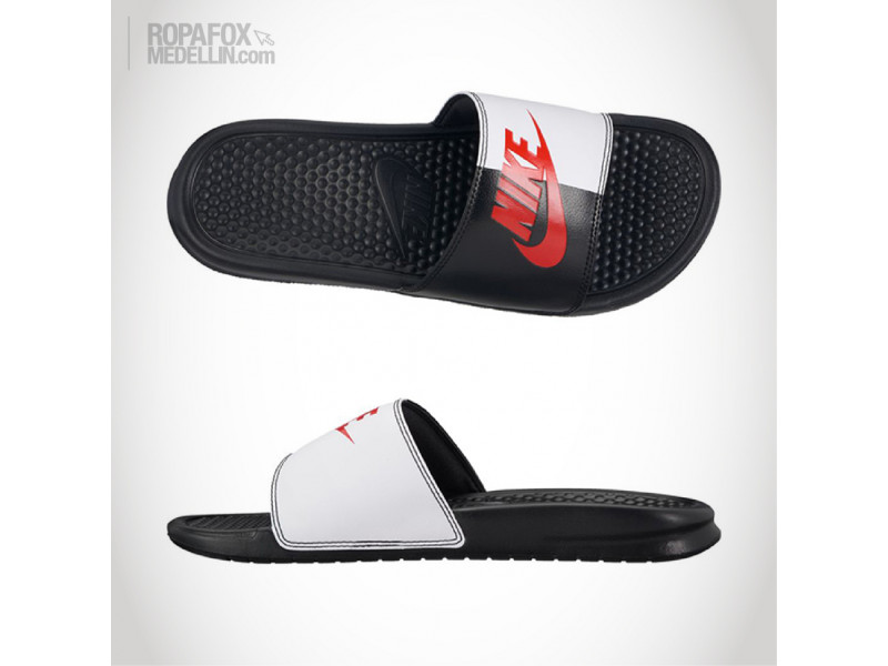 Imagen Chanclas Nike Benassi Jdi Mix Black/White/Red 3