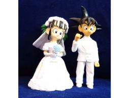Imagen Dragon Ball Matrimonio Decoracion Torta Goku Y Milk