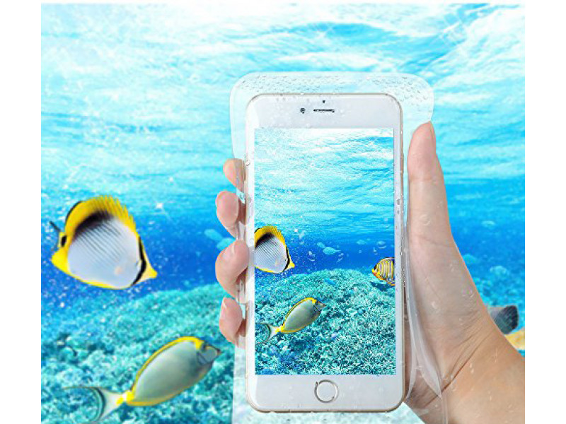 cb485b409b0 Forro Bolsa Protector Sumergible Agua Impermeable Celulares: Bolsa ...