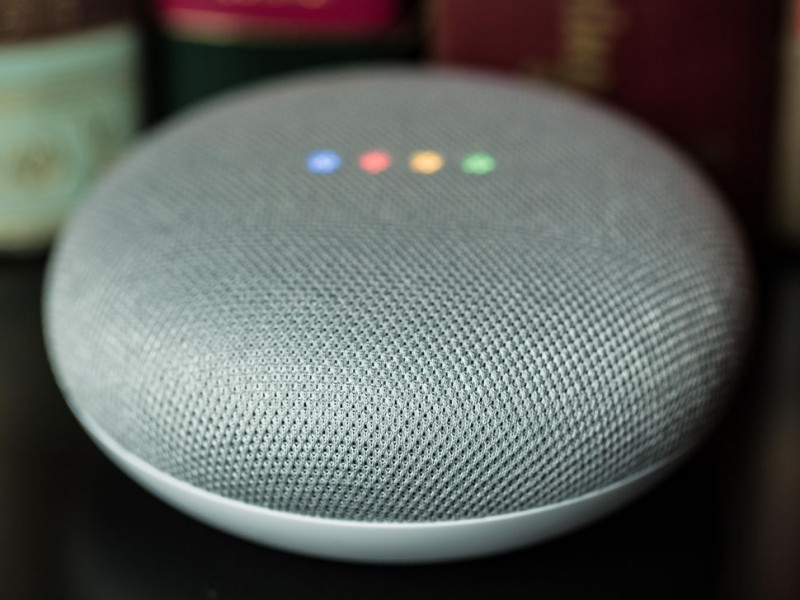 Imagen Google Home Mini parlante Inteligente Asistente Virtual 3