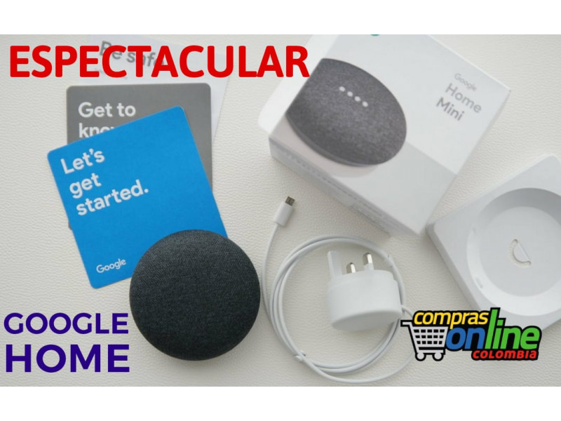 Imagen Google Home Mini parlante Inteligente Asistente Virtual 1