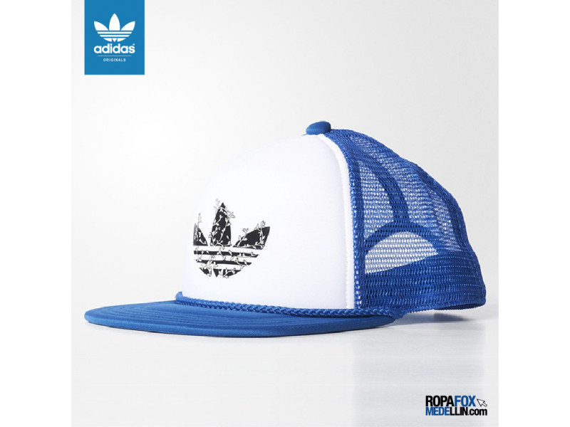b7986347e857a Gorra Adidas Originals H Trucker Cap Azul   Blanca  Ref 01627