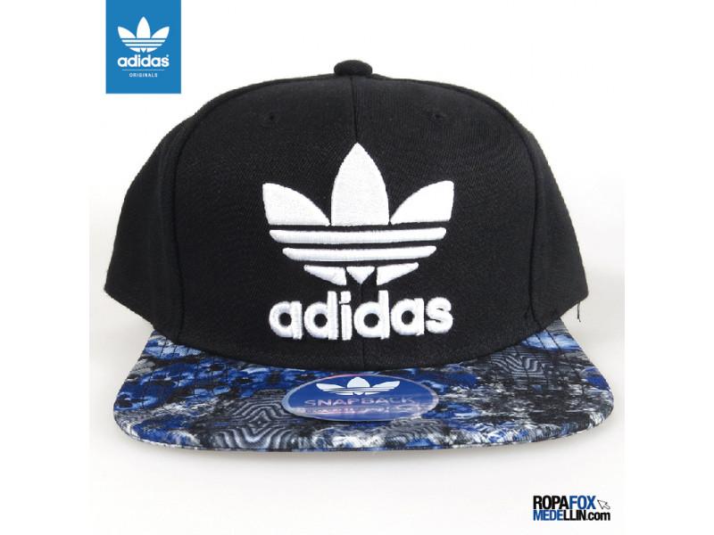 bc7d725aa82c1 Gorra Adidas Originals SnapBack Draft Negra Azul  REF 01209