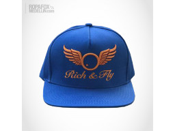 Imagen Gorra Rich And Fly (Snapback Con Broche Ajustable) Blue/Orange