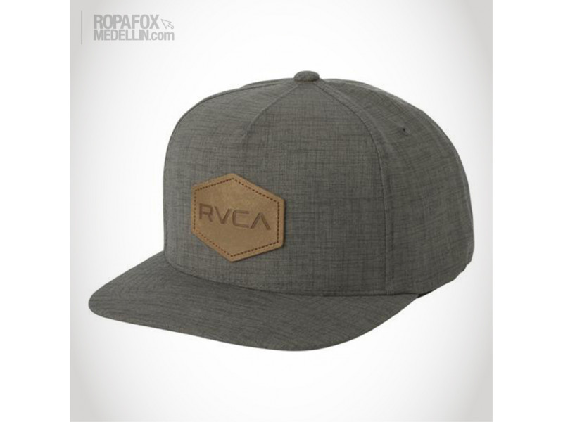 Imagen Gorra Rvca Common Wealth (Snapback Con Broche Ajustable) Grey/Brown 1