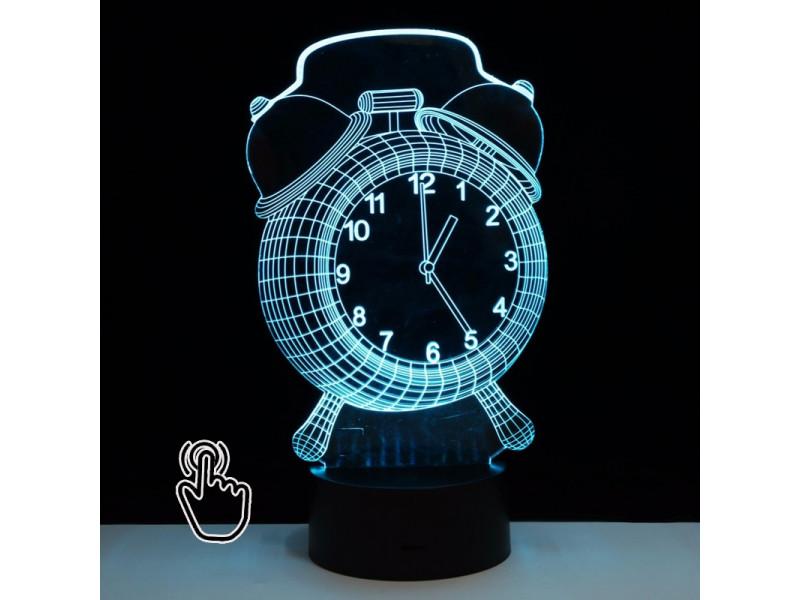 Usb Holograma Reloj Acrilico 3d Diseño Led Lampara Win 8vwN0mnO