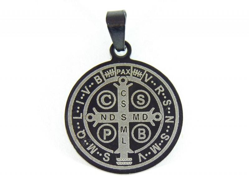 3b53ee26a90 Medalla San Benito Acero Inoxidable con Cordon  PS449 Compra con ...