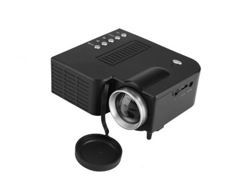 Imagen Mini Led Proyector Hd Video Beam Hdmi Sd + Control Negro 2