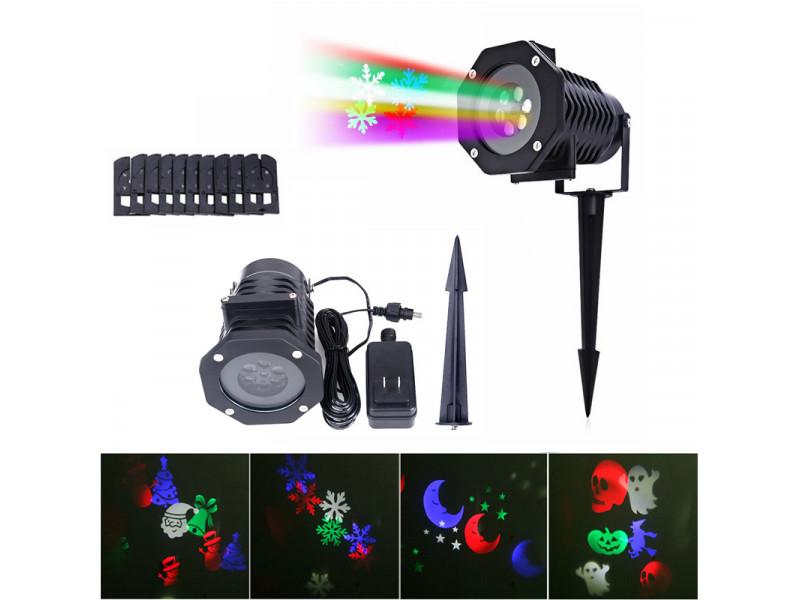 0679dd5bd5d Imagen Navidad Laser Proyector 4 Imágenes Diferente Exterior Jardin