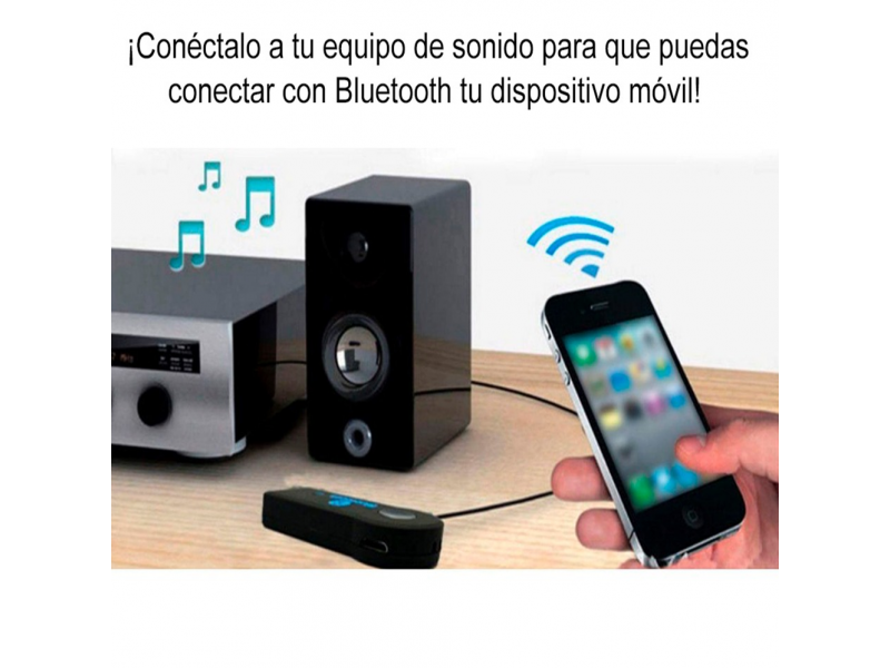 Imagen Receptor Bluetooth 3.5mm Audio Auxiliar Bateria Recargable 2