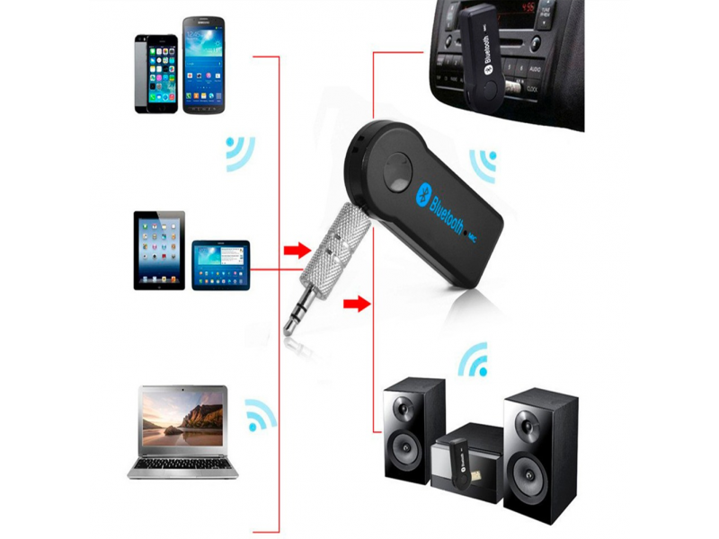 Imagen Receptor Bluetooth 3.5mm Audio Auxiliar Bateria Recargable 4