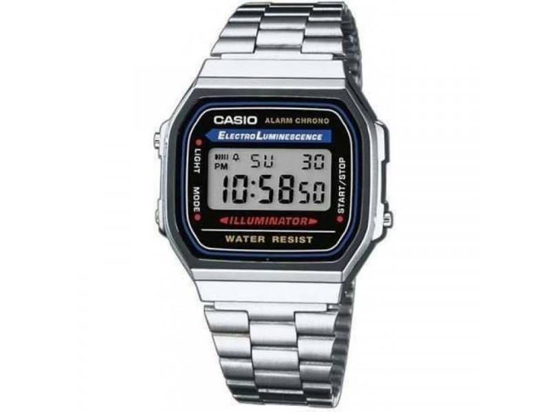 fa7efb288893 Reloj Casio 100% Original Retro Plateado Unisex A168wa  A168WA