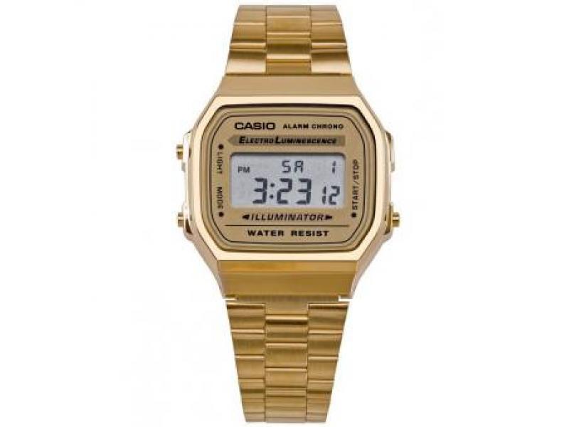 37bc0ee544d7 Reloj Casio A168 Original Retro Vintage Dorado Mujer  A168 Empresa ...