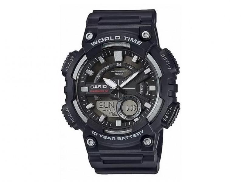 HoraWorld 110w DeportivoDoble Reloj Time Casio Aeq deCBorx