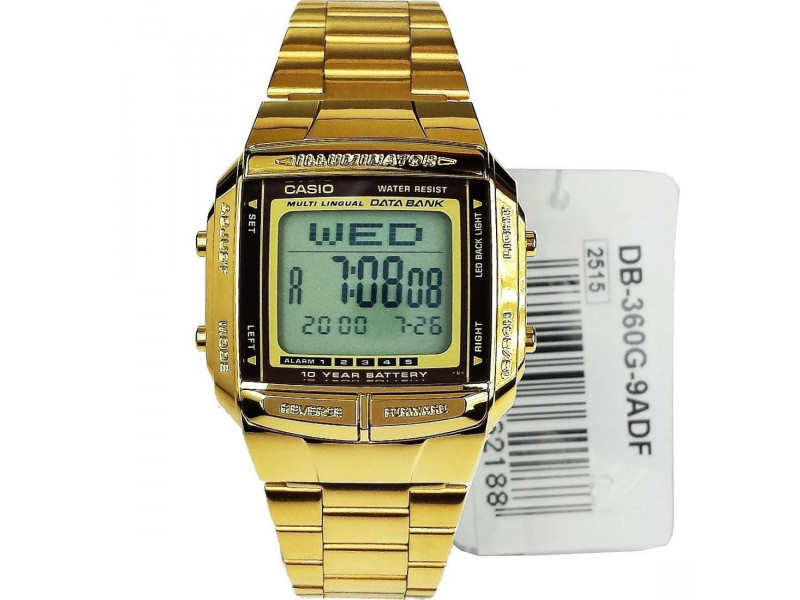 47db01d8d367 Reloj Casio Dorado Db 360 Retro Acero Inoxidable Original  Casio DB ...