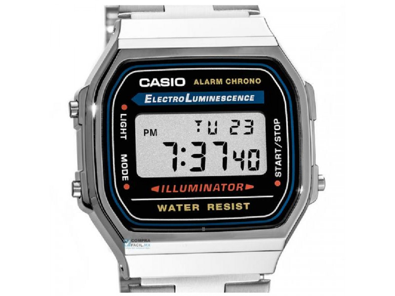 e166cbe03083 Reloj Casio Plateado A168 Old School Retro  Reloj Casio Plateado ...