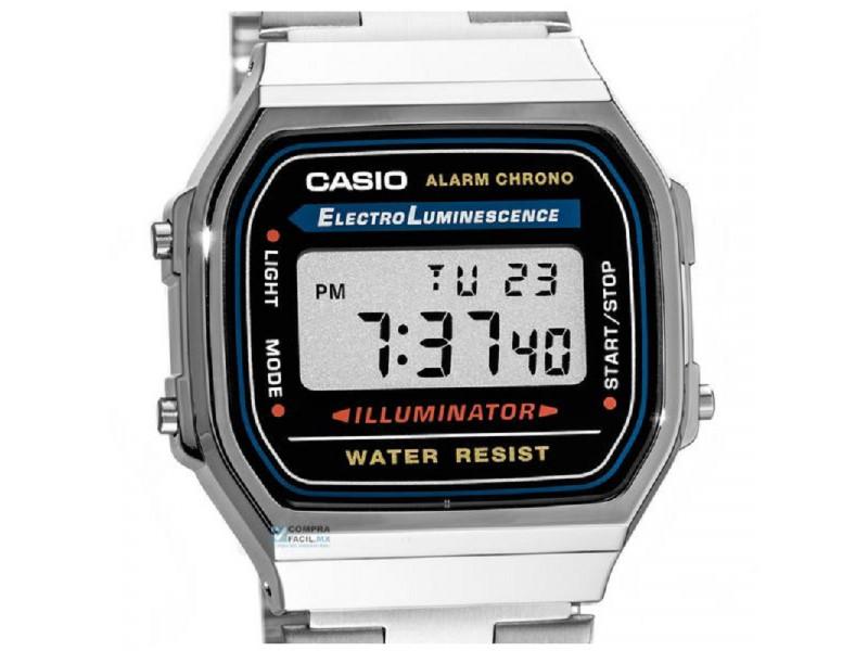 a75bf7dc9b5b Reloj Casio Plateado A168 Old School Retro  Reloj Casio Plateado ...
