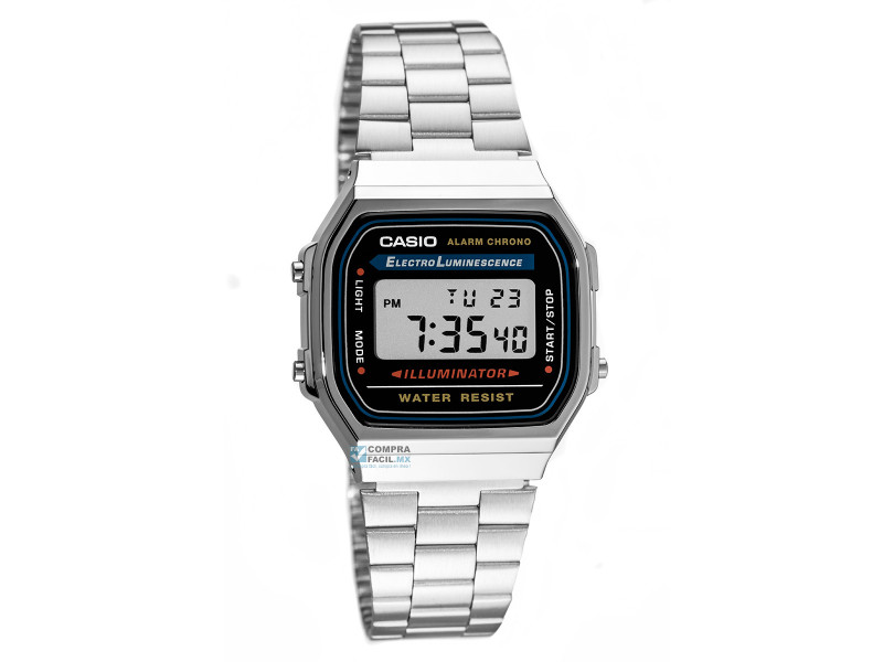 34d159f95596 Reloj Casio Plateado Dorado A168 Old School Retro Original  A168 ...