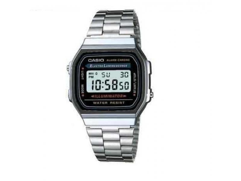 Reloj Casio Plateado Dorado A168 Old School Retro Original  A168 ... eefb0f00c645