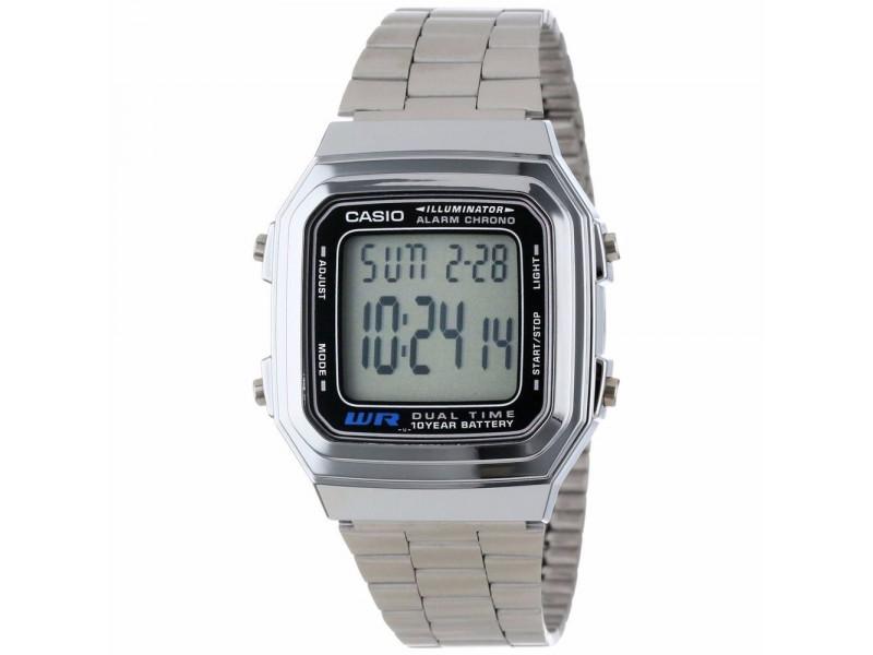 e26a3fe8c57d Reloj Casio Retro A 178 Plateado Unisex Original  RCR25