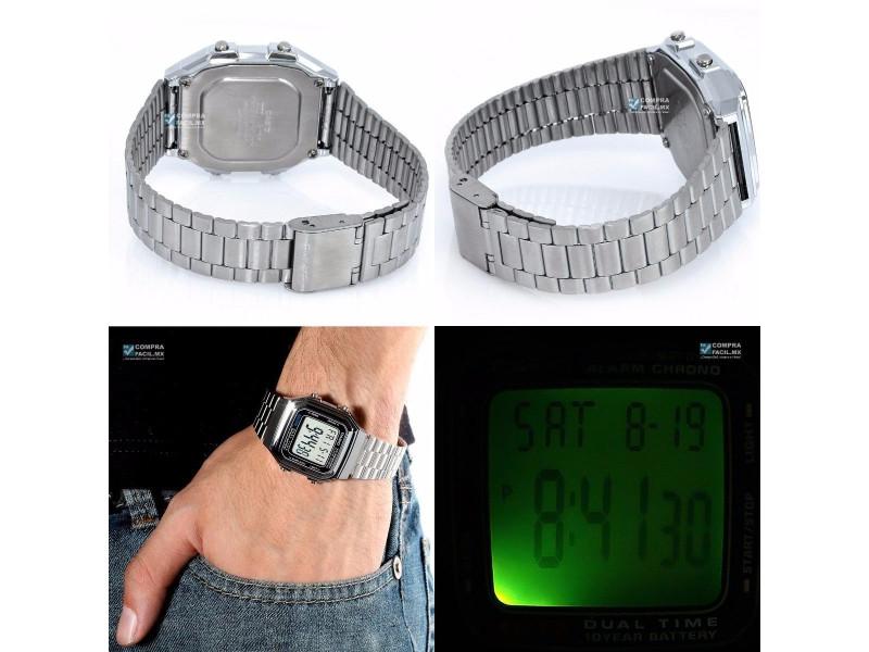 d903115c24df Imagen Reloj Casio Retro A 178 Plateado Unisex Original 3