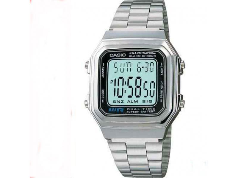 f15408d54be9 Reloj Casio Retro A 178 Plateado Unisex Original  A178wa