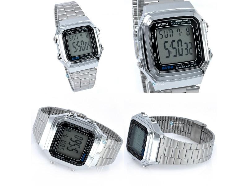 7e0c8a799f51 Imagen Reloj Casio Retro A 178 Plateado Unisex Original 2