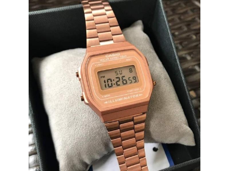 628d7433f809 reloj casio retro digital oro rosa  reloj casio retro digital oro ...