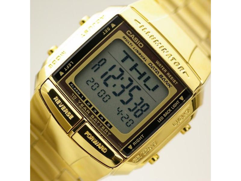 25034c7b1c43 Reloj Casio Unisex Dorado Db 360. Telememo 30. 100% Original  Db 360G