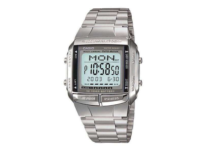 360Telememo 30100Origin Db Unisex Plateado Casio Reloj 3Lq54ARj