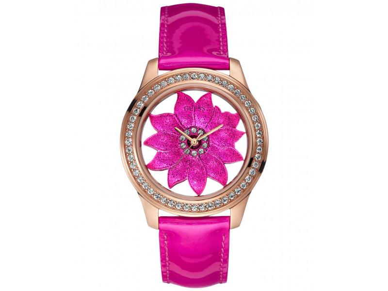 Rosado Guess U0534l3 Con Rosa Case Reloj Dorado q4LcARj35