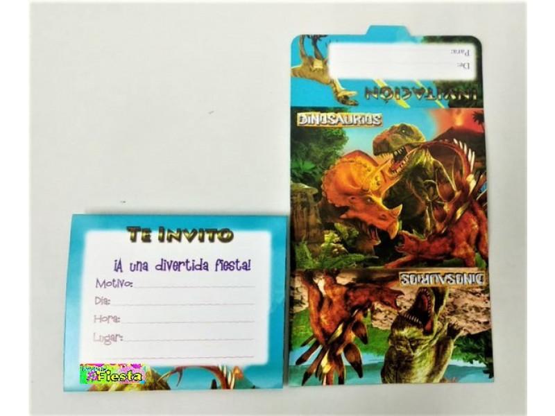 Tarjeta De Invitacion Dinosaurios Tarjeta De Invitacion
