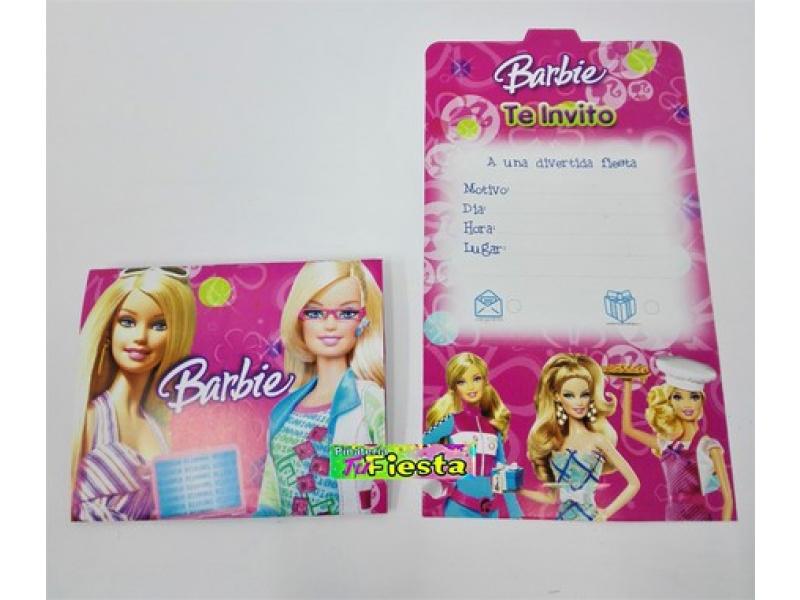 Tarjetas De Invitación Barbie Tarjetas De Invitación Barbie