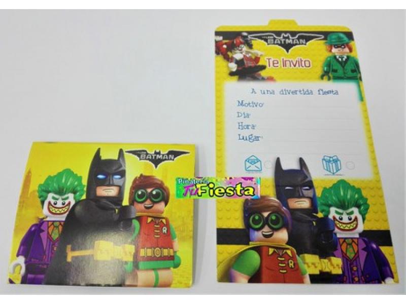 Tarjetas De Invitación Batman Lego