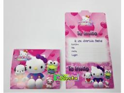 Tarjetas De Invitación Hello Kitty