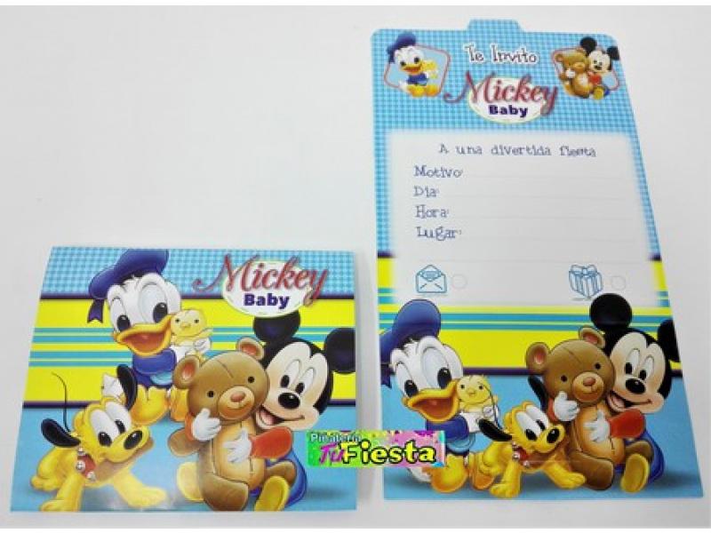 Tarjetas De Invitación Mickey Baby Tarjetas De Invitación