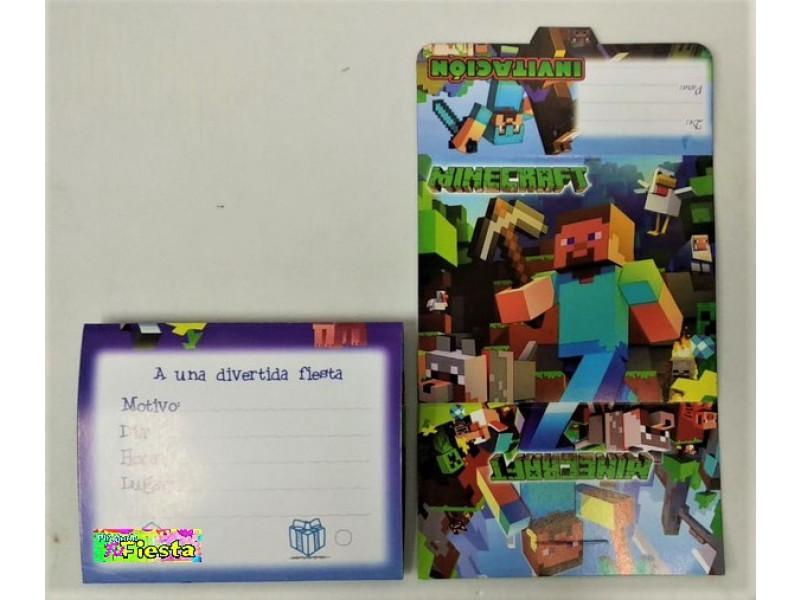 Tarjetas De Invitación Minecraft Tarjetas De Invitación