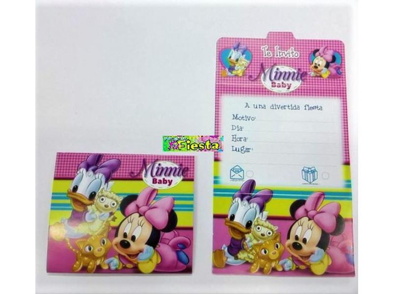Tarjetas De Invitación Minnie Baby Tarjetas De Invitación